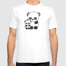 Panda Sweetness Mens Fitted Tee White SMALL