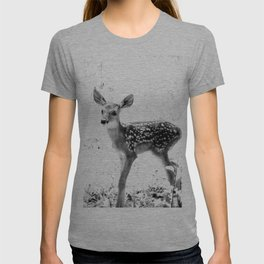 The Sweetest fawn Black & White T-shirt