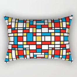 Mondrian design, abstract pattern Rectangular Pillow