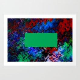 Green Box Floating On Water Art Print
