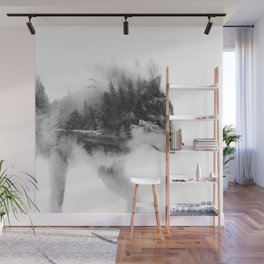 Wolf Stalking Wall Mural