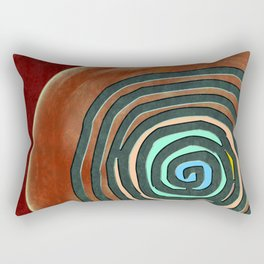 Tribal Maps - Magical Mazes #02 Rectangular Pillow