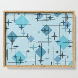 MidCentury Modern Pattern Blue Serving Tray
