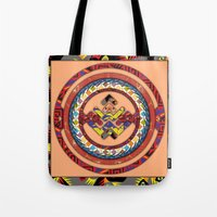 totem Tote Bags featuring Totem by Robin Curtiss