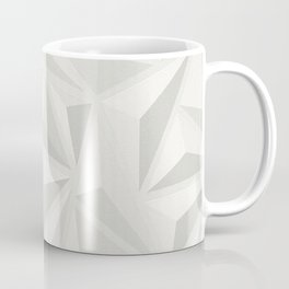 3d Effect Embossed Grey Triangle Textured Coffee Mug