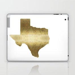 texas gold foil print state map Laptop & iPad Skin