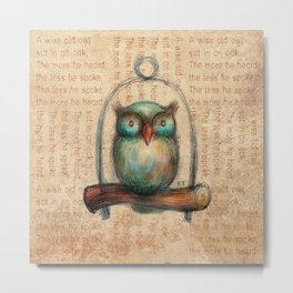 Wise Owl II Metal Print