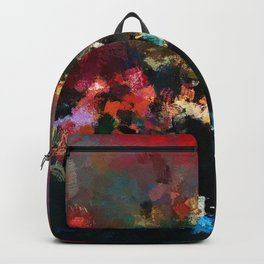 Emotional Abstract Artwork with Dark Colors Backpack