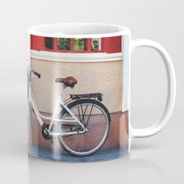 White vintage bike Coffee Mug
