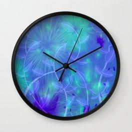 Dancing Flower Garden Abstract  Wall Clock