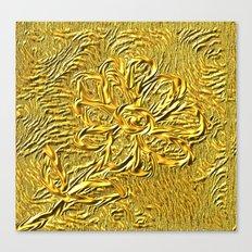 embossed floral Canvas Print