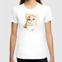 bread T-shirts featuring Bread Cat by Leanne Engel