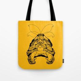 Blossom Yellow Turtle Fairy Elf Tote Bag