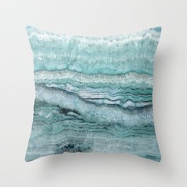 Mystic Stone Aqua Teal Throw Pillow