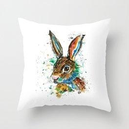 Bunny Rabbit - Real Bunny Throw Pillow