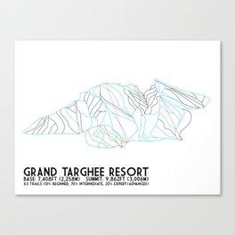 Grand Targhee Resort, WY - Minimalist Trail Art Canvas Print