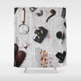 My Travels (Color) Shower Curtain