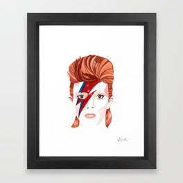 King Bowie  Framed Art Print
