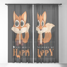 Foxes Make Me Happy Sheer Curtain