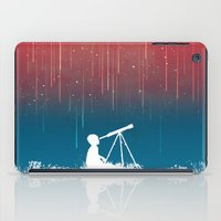 astronomy iPad Cases featuring Meteor Rain (light version) by Picomodi