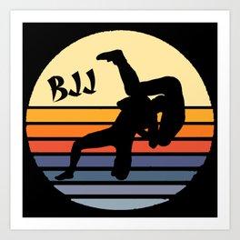 Retro BJJ Brazilian Jiu Jitsu Art Print