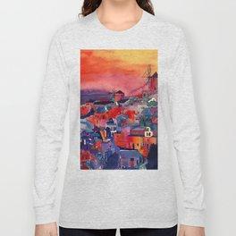 Sunset on Santorini Long Sleeve T-shirt