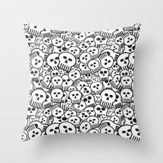 toon skulls Throw Pillow