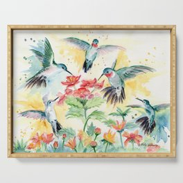Hummingbird Party Serving Tray