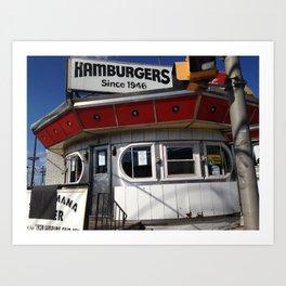 burger joint nj Art Print