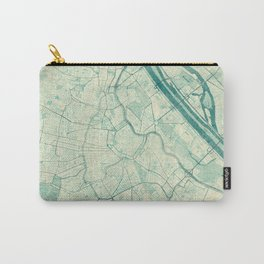Vienna Map Blue Vintage Carry-All Pouch