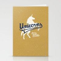 unicorns Stationery Cards featuring Unicorns by WEAREYAWN