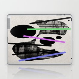 PENSIVE - Eclectic blend of geometric shapes, pastel colours, and black and white textures Laptop & iPad Skin