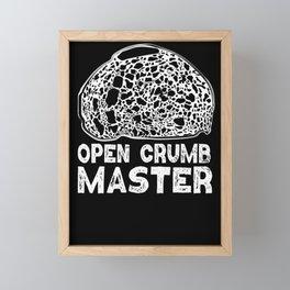 Baking Baker Sourdough Bread Open Crumb Master  Framed Mini Art Print