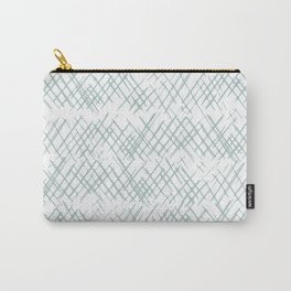 Sketched Cross Hatches in Aqua Carry-All Pouch
