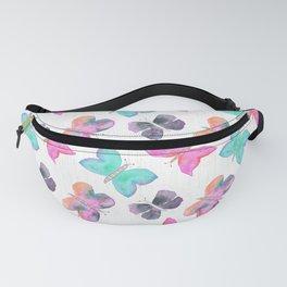 Watercolor Butterflies Fanny Pack
