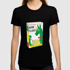 Horn Flakes Cereal Black Womens Fitted Tee LARGE