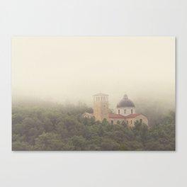 Fog Over The Shrine Canvas Print