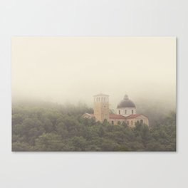Fog Over The Shrine Canvas Print