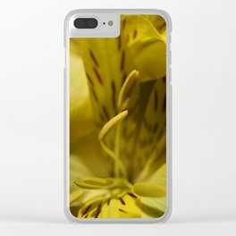 Flower Yellow Stamens Vertical Clear iPhone Case