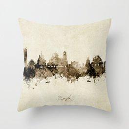 Sofia Bulgaria Skyline Throw Pillow