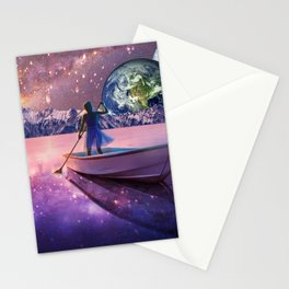 Sailing Away To The New World, From The Darkness To The Light Stationery Cards