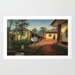 Sonac Street Compound Art Print
