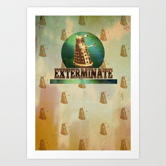 Doctor Who: Dalek Print Art Print