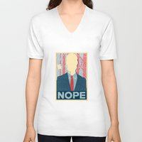 nope V-neck T-shirts featuring Nope by DandyBerlin