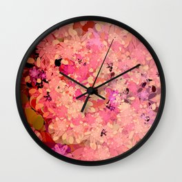 Two Different Worlds -- Floral Pattern Wall Clock