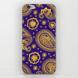 paisley: indigo & gold iPhone Skin