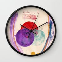 coldplay Wall Clocks featuring Painting & Coldplay by Hector Pahaut
