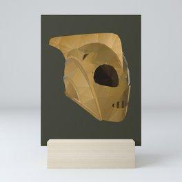 Rocketeer Helmet polygon art Mini Art Print