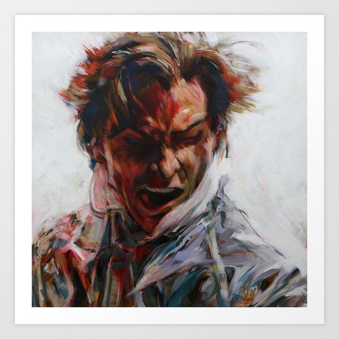 Painting of Patrick Bateman (Christian Bale) from American Psycho (2000) Art Print