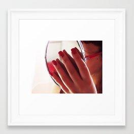 Vanity mirror Framed Art Print
